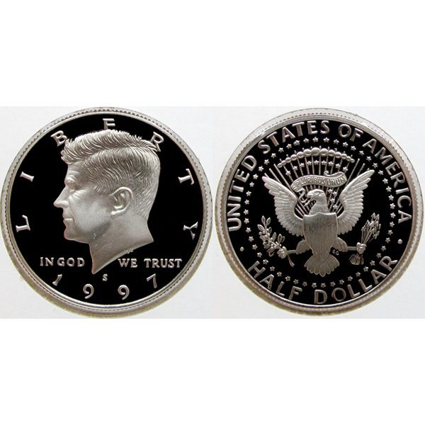 1997-S Kennedy Half Dollar - Gem Proof Coin