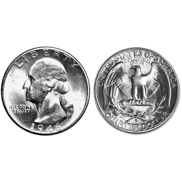 1946-S Washington Silver Quarter - Uncirculated