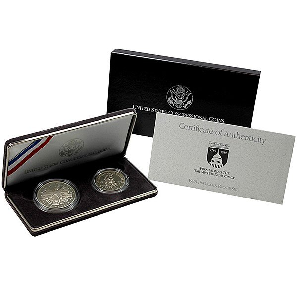 1989-S Congressional 2-Coin Proof Set