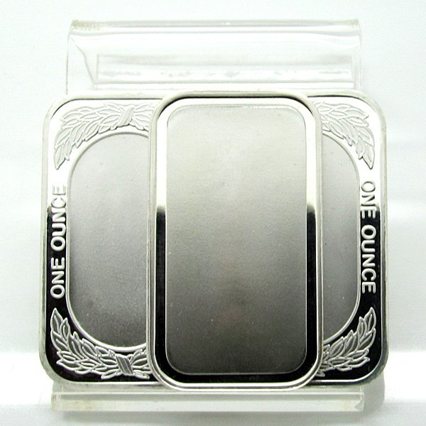 1 Oz Blank Design .999 Fine Silver Bars 3-Bar Set