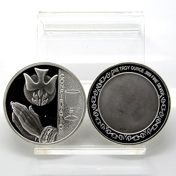 1 Oz Confirmation Design .999 Fine Silver Round