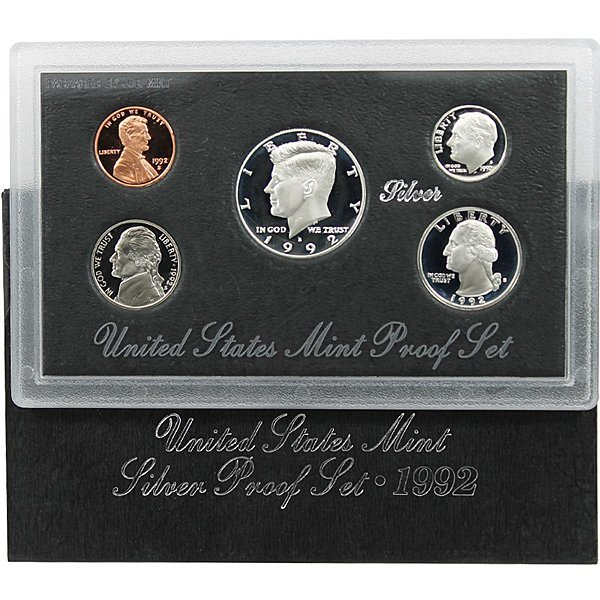 1992-S US Mint Proof Set 90% Silver in OGP