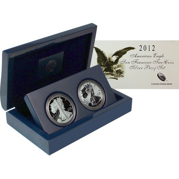 2012-S Proof Silver American Eagle 2-Coin Set