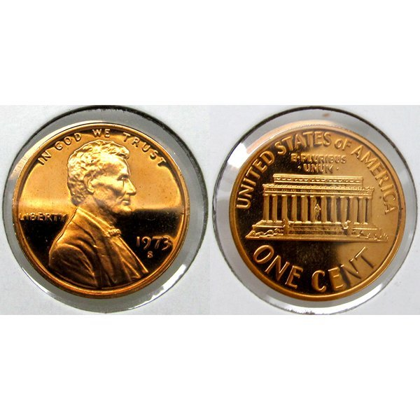 1973-S Lincoln Memorial Cent - Gem Proof