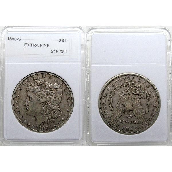 1880-S Morgan Silver Dollar - Extra Fine