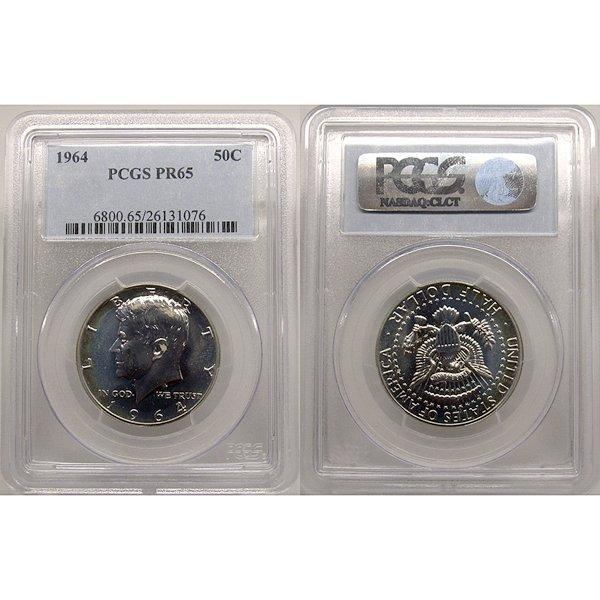 1964 Kennedy Silver Half Dollar PR65 PCGS