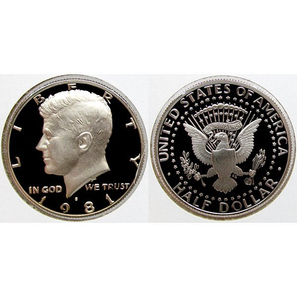 1981-S Kennedy Half Dollar - Gem Proof Coin
