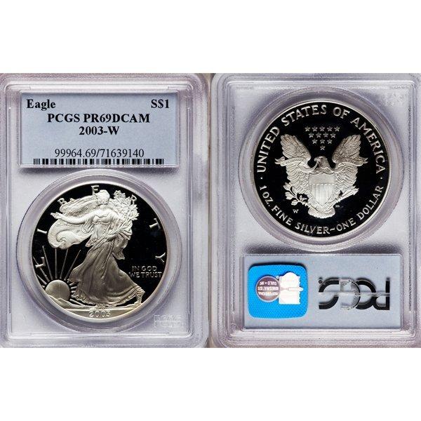 2003-W Proof Silver Eagle PR69 DCAM PCGS