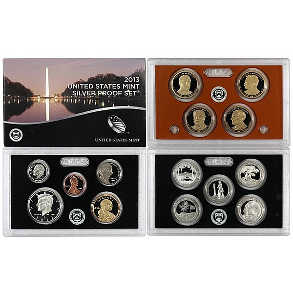 2013-S 14-Coin Proof Set 90% Silver in OGP