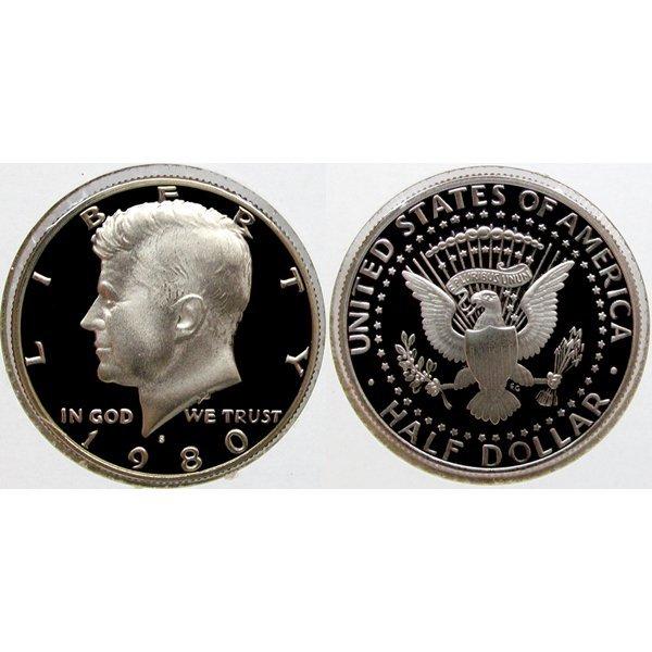 1980-S Kennedy Half Dollar - Gem Proof Coin