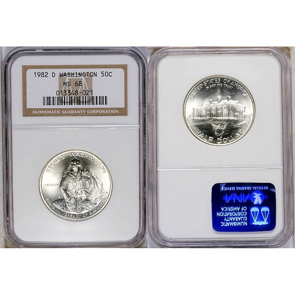 1982-D Washington Silver Half Dollar MS68 NGC
