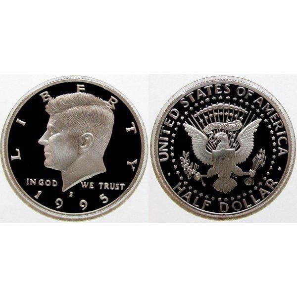 1995-S Kennedy Half Dollar - Gem Proof Coin