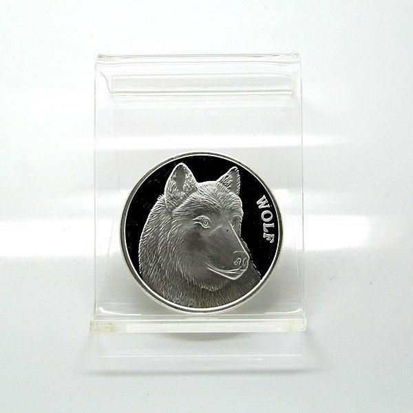 1 Oz Wolf Design .999 Fine Silver Round