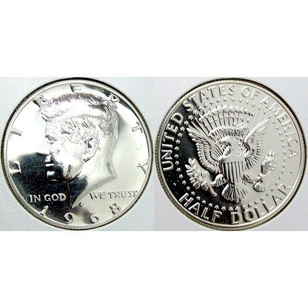 1968 S Kennedy (40% Silver) Half Dollar Proof