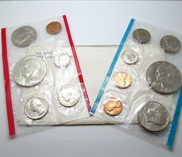 1974-P,-D US Complete Mint Set