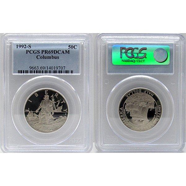 1992-S Columbus Half Dollar PR69 PCGS