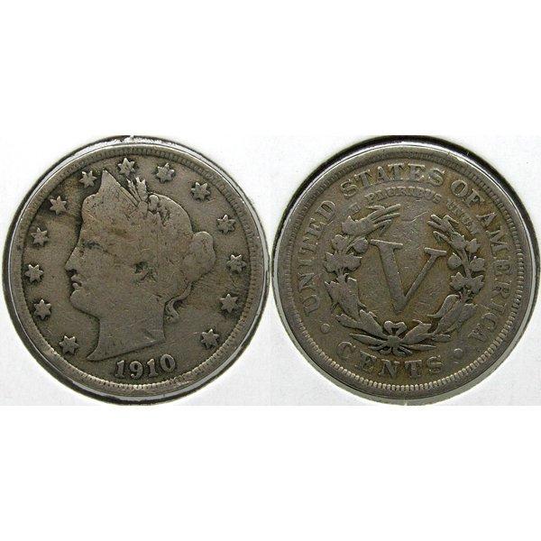 1910 Liberty Head V Nickel - Very Good-10