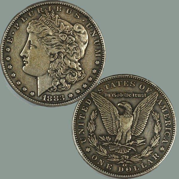 1883-CC $1 Morgan Silver Dollar - Extra Fine
