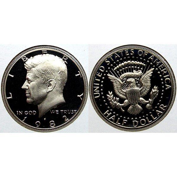 1982-S Kennedy Half Dollar - Gem Proof Coin