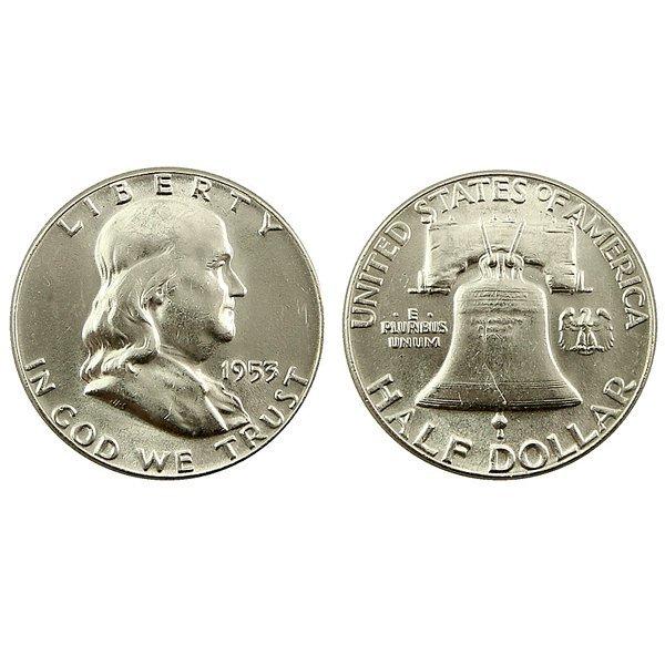 1953 Franklin Silver Half Dollar - Uncirculated