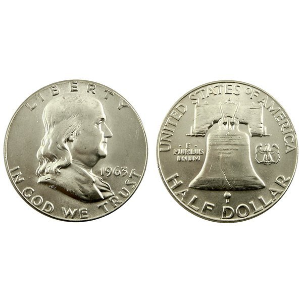1963-D Franklin Silver Half Dollar - Uncirculated
