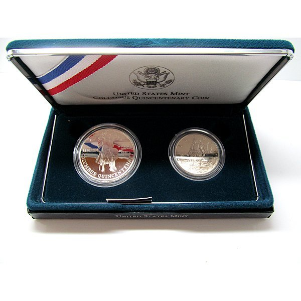 1992-S Columbus Quincentenary 2-Coin Proof Set