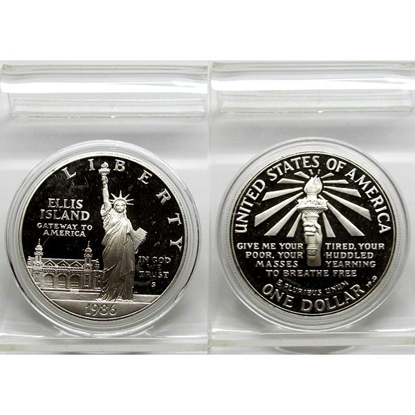 1986-S Statue Of Liberty Proof Silver Dollar