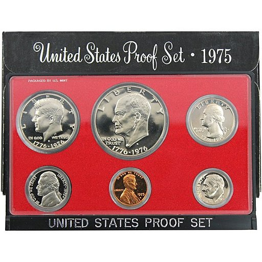 1975-S US Mint Proof Set Type 1 in OGP