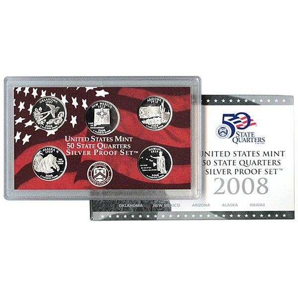 2008-S Quarter 5-Coin Proof Set (90% Silver) in OGP