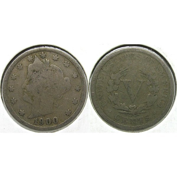1900 Liberty Head V Nickel - Good