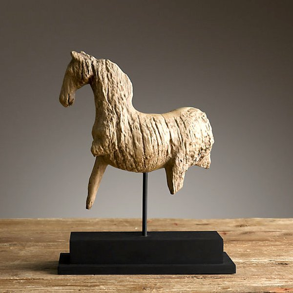 Early 1900's Carved Wood Horse Sculpture - 3