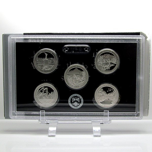 2011-S US Mint ATB Quarters 5-Coin Silver Proof Set