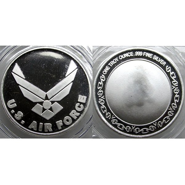 1 Oz US Army Air Force Design .999 Silver Round