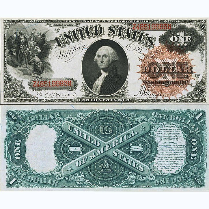 1880 $1 Legal Tender - Large Size Note - Unc