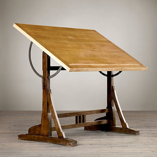 "European Vintage Architect Drafting Table 52"""
