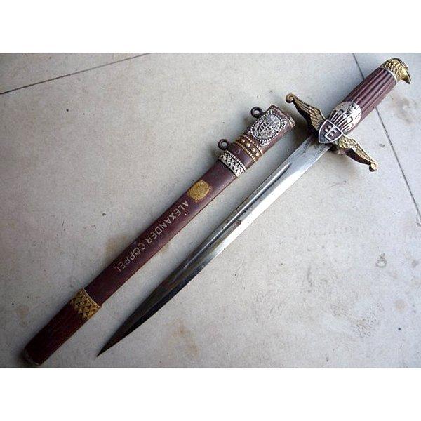 WWII German Dagger/Short Sword w/Sheath Named