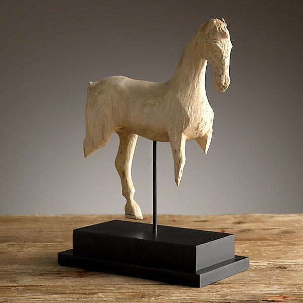 """Hand Carved Horse Sculpture 13"""""""