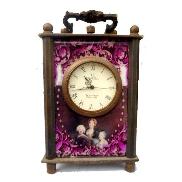 "Antique European Brass Carriage Clock 5"""