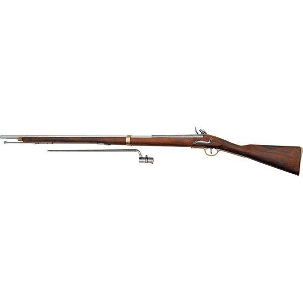 18th-19th Century Flintlock Musket with Bayonet