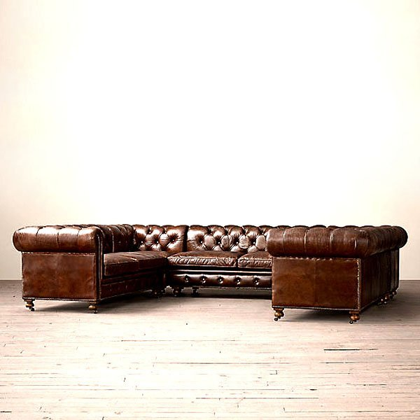 English Chesterfield Left & Right Arm Facing Corner