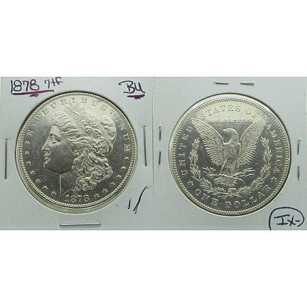 1878 Morgan Silver Dollar 7 TF - BU