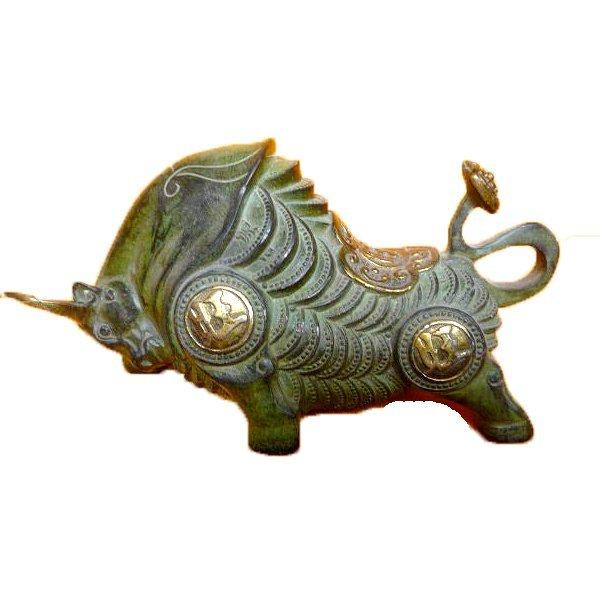 """Bronze Bull Statue 10.5"""""""