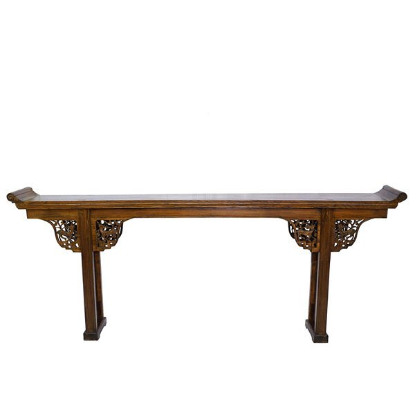19th Century Chinese Elm Wood Altar Table