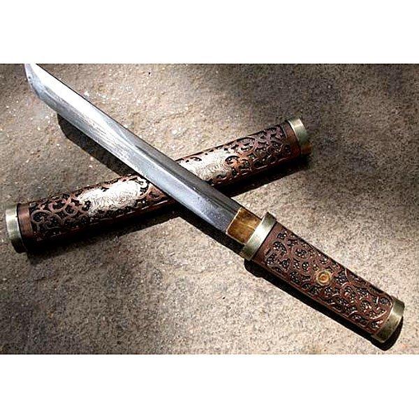 "WWII Japanese Samurai Short sword w/ Sheath 16"""