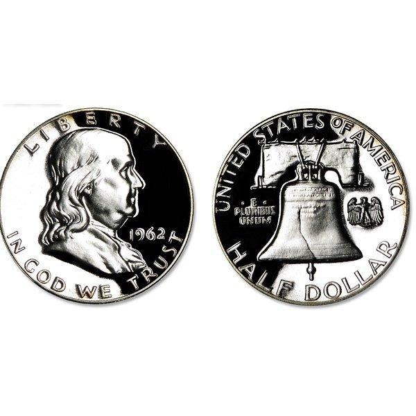 1962 Franklin Half Dollar Proof