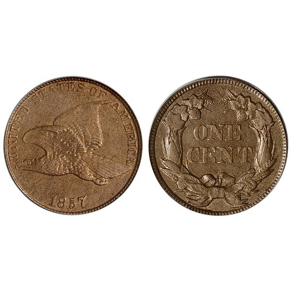 1857 Flying Eagle Cent - Brilliant Uncirculated