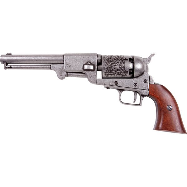 Colt Model 1848 Percussion Army Revolver Engraved Metal