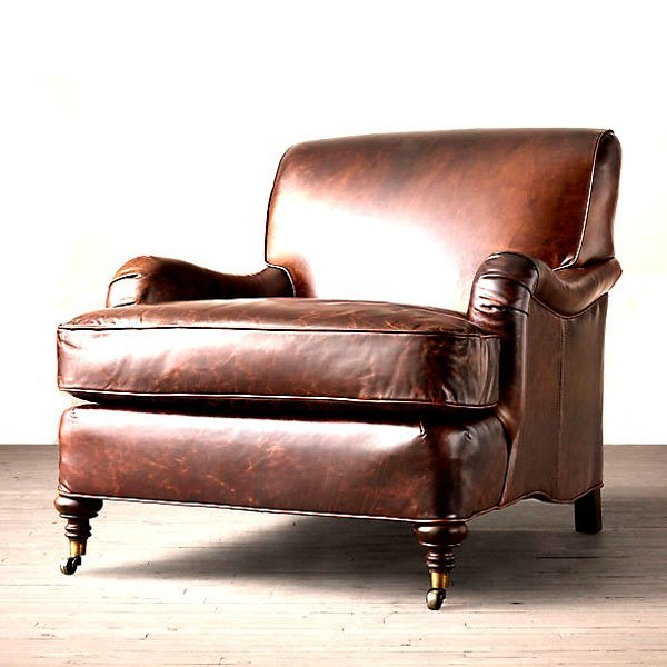 Cornelius Leather Chair - Old Saddle Brown