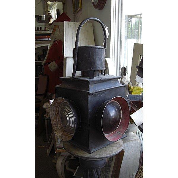 "Antique Train Lantern 20"""