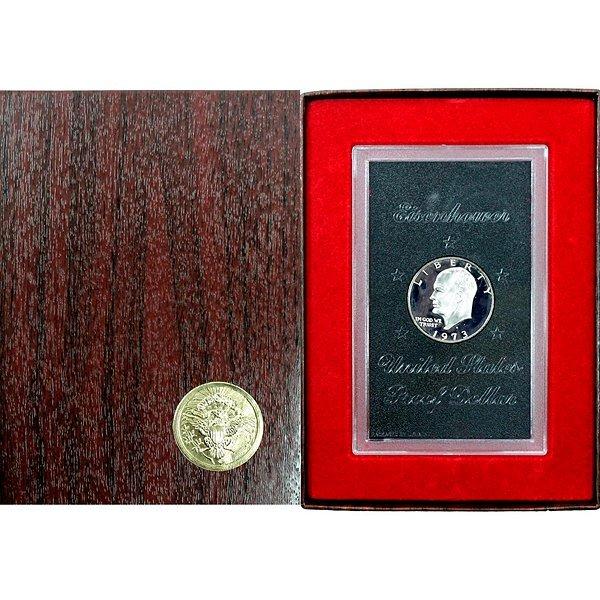 1973 S Eisenhower Dollar (40% Silver) Proof OGP